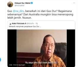 Wawancara Gus Dur Soal Bom Kembali Viral di Twitter, Apa Isinya?