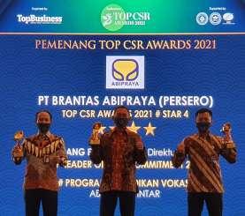 Berkontribusi Nyata, Brantas Abipraya Borong Tiga Penghargaan di Top CSR Awards