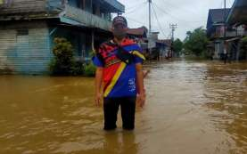 Idulfitri, Rumah Warga di Perbatasan RI-Malaysia Terendam Banjir