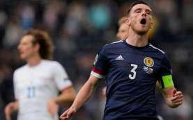 Kapten Skotlandia Andy Robertson Sesalkan Peluang Cetak Gol Terbuang