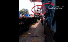Buntut Aksi Berantas Pungli, Kaca Pengemudi Truk Dilempari Oknum di Luar Pelabuhan Priok