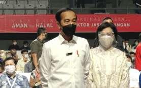 Jokowi Tinjau Vaksinasi Covid-19 10.000 Pelaku Sektor Jasa Keuangan