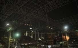Rangka Atap Jakarta International Stadium Berhasil Dinaikkan