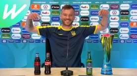 Ini Video Kapten Timnas Ukraina Singkirkan Botol Minuman Sambil Sindir Ronaldo