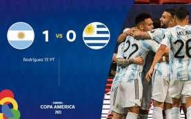 Hasil Copa America : Argentina Atasi Uruguay, Lionel Messi Terbaik