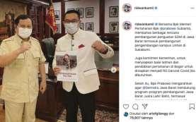 Gubernur Ridwan Kamil Temui Menhan Prabowo Subianto, Bahas Apa?