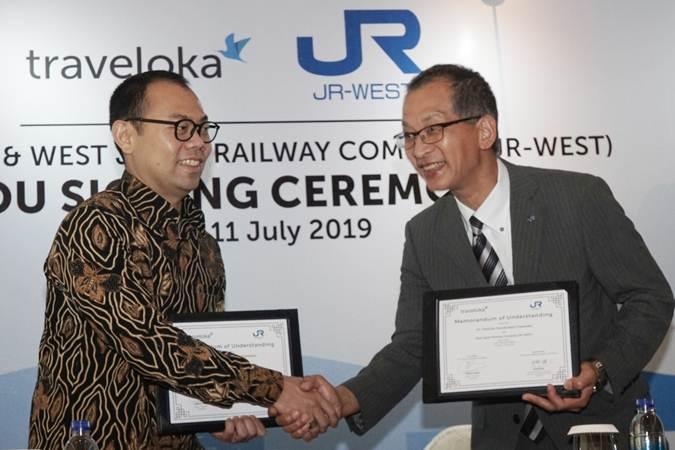 Transport Traveloka Bersinergi dengan JR-West