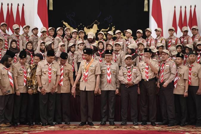 Presiden Jokowi Lepas Kontingen Jambore Pramuka Dunia XXIV