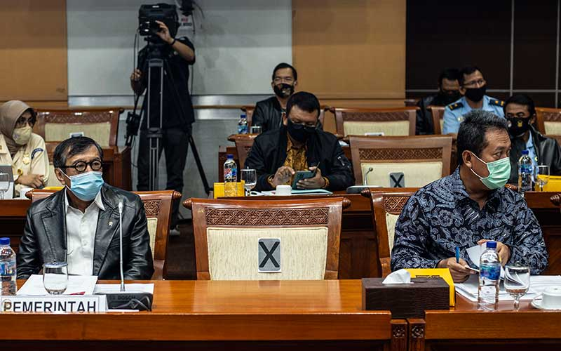 Menkumham Yasonna Laoly Raker Bersama DPR Bahas Kerja Sama Bidang Pertahanan