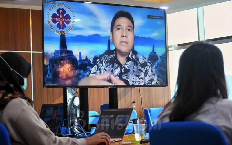 Bisnis Indonesia Gandeng PHRI dan IGC Gelar Webinar Bahas Pentingnya Verifikasi Protokol Kesehatan