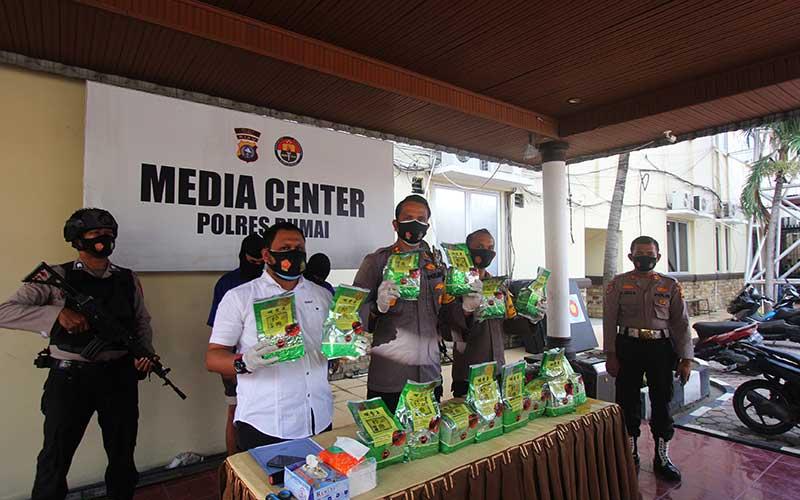 Polres Dumai Gagalkan Penyelundupan Sabu Dari Malaysia Seberat 14 Kg
