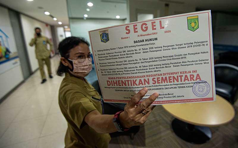 Gedung Perkantoran di Jakarta Disegel Karena Melanggar Protokol Kesehatan