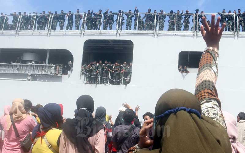 450 Prajurit Batalyon Infantreri Raider 700 Wira Yudha Cakti Kodam XIV Hasanuddin Berangkat Ke Papua