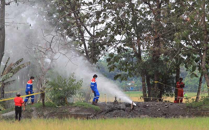 Semburan Gas Liar Terjadi di Indramayu Jawa Barat