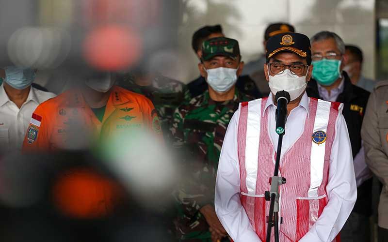 Menhub Budi Karya Sumadi Berikan Penjelasan Terkait Perkembangan Pencarian Pesawat Sriwijaya SJ182