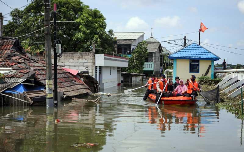 Kawasan Total Persada di Tangerang Banten Sudah Tiga Hari Terendam Banjir