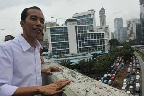 Jokowi Resmikan JLNT Melayu-Tanah Abang - Antara