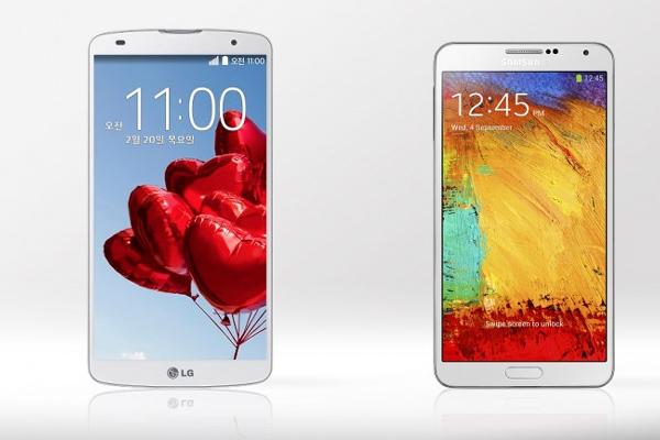 LG G Pro 2 dan Samsung Galaxy Note 3 - cnet