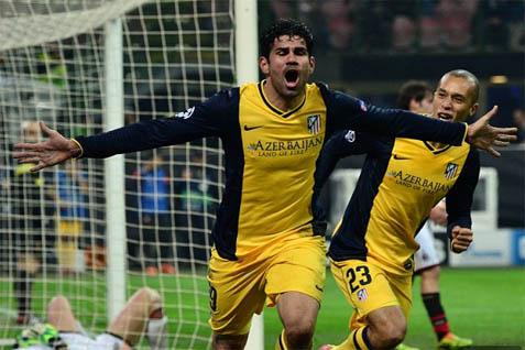 Diego Costa saat merobek gawang AC Milan - dailymail.co.uk