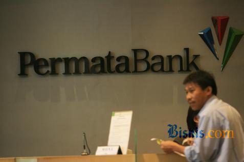 Salah satu counter Bank Permata - Bisnis