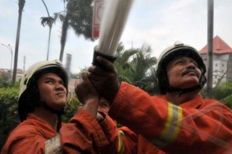 Petugas Damkar-PB selalu siap menangani berbagai macam kejadian termasuk diluar domain mereka.  - bisnis.com