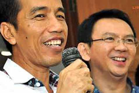 Gubernur DKI Joko Widodo dan Wagub Basuki 'Ahok' Tjahaja Purnama  - Antara