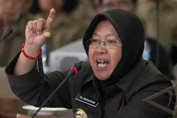 Wali Kota Surabaya Tri Rismaharini - Antara