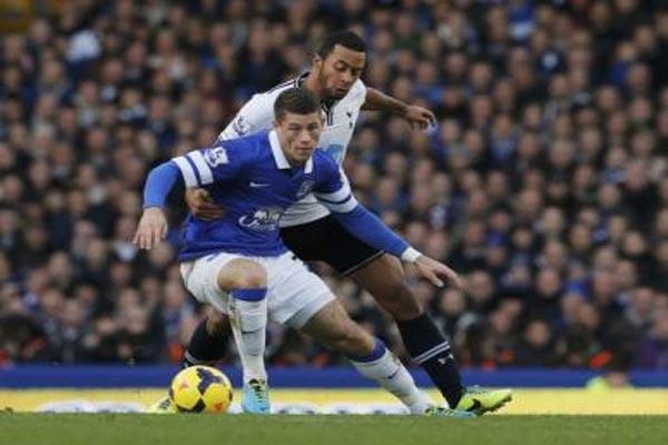 Everton tertinggal 0-1 dari Crystal Palace di babak pertama Liga Inggris, Rabu atau Kamis (17/4/2014) WIB - JIBI