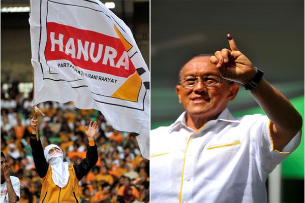 Suasana kampanye Partai Hati Nurani Rakyat (Hanura), Capres Partai Golkar Aburizal Bakrie  - bisnis.com