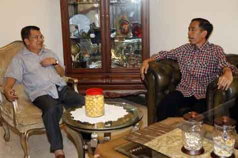 Capres PDIP Joko Widodo (Jokowi) dan Jusuf Kalla - Antara
