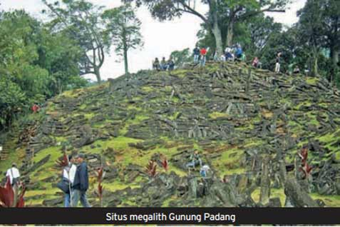 Harga tiket masuk Situs Gunung Padang dibanderol sebesar Rp2.000 untuk turis lokal dan Rp5000 wisatawan asing.  - bisnis.com