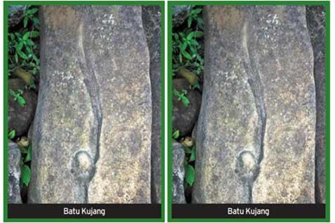Batu Kujang di Situs Gunung Padang. - bisnis.com