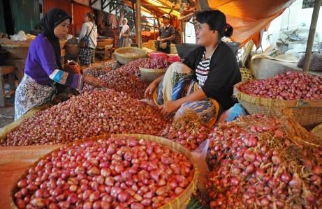 Komoditas bawang hasil panen raya. BI Prediksi Inrflasi April di bawah 0,1% - Bisnis