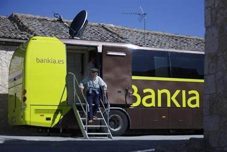 Aktivitas outlet perbankan di Spanyol. Perbankan Spanyol mulai menyasar UMKM.  - Reuters