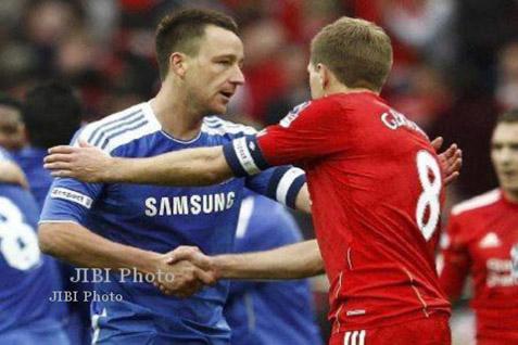 John Terry (Chelsea) dan Steven Gerrad (Liverpool) - JIBI