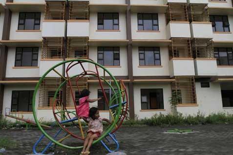 Saat ini, anak-anak Rusun Marunda, khususnya yang berusia di bawah 5 tahun, mendapat fasilitas belajar di PAUD Cahaya Permata Indonesia yang berada di bawah Yayasan Pansophia.  - bisnis.com