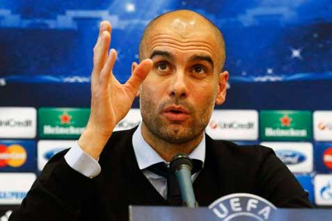 Pelatih Munchen Pep Guardiola. Disasar menjadi pelatih Manchester United - Reuters