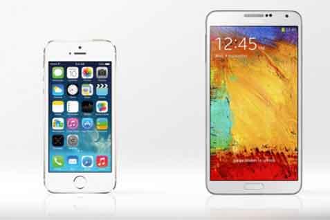 iPhone 5 vs Samsung Galaxy Note -