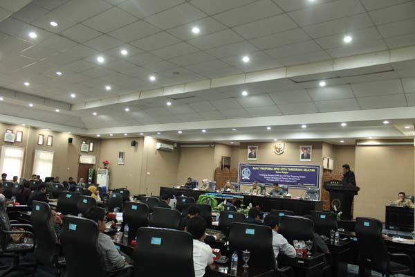 Ruang sidang DPRD Tangsel. Mendapat kunjungan kerja dari DPRD Ponorogo - Istimewa