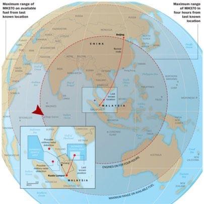 Pesawat MH370 Dicurigai Berbelok ke Pangkalan AS, Diego Garcia/cabaltimes - created YUS