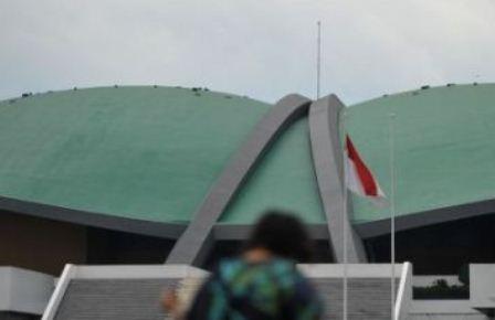 Ilustrasi-Gedung Kura-Kura di Kompleks DPR, Senayan. - Antara