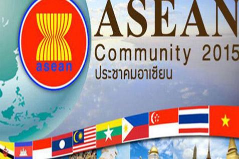Logo Masyarakat Ekonomi Asean 2015. Persiapan Indonesia rendah - JIBI
