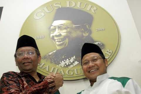 Muhaimin Iskandar, dan Mahfud MD, Ketua Umum PKB - JIBI