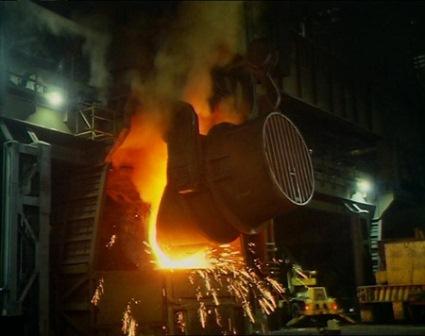 Ilustrasi-Teknologi blast furnace - bbc.co.uk