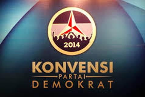 Logo konvensi Partai Demokrat. Isu Perekonomian paling banyak disoroti peserta - JIBI