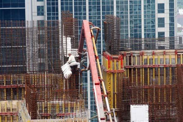 Proses pembangunan apartemen - Bisnis.com