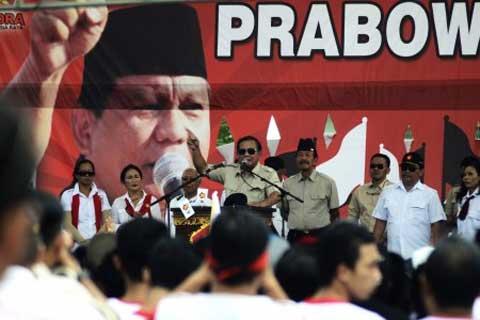Prabowo Subianto saat  Kampanye Partai  Gerindra - JIBI