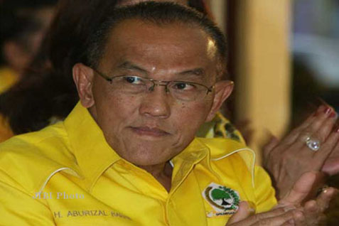 Presiden dari Partai Golkar Aburizal Bakrie. Hasil Pileg disebut bukan cerminan elektabilitas capres - JIBI