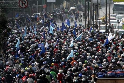 Ilustrasi/Unjuk rasa buruh Tangerang
