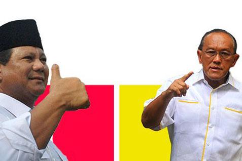 Prabowo dan Aburizal Bakrie. Gerindra jajaki koalisi dengan Golkar - Antara